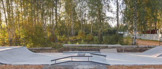 Надпись есть, а БУЯ нет - бетонный скейтпарк в небольшом городе Костромской области